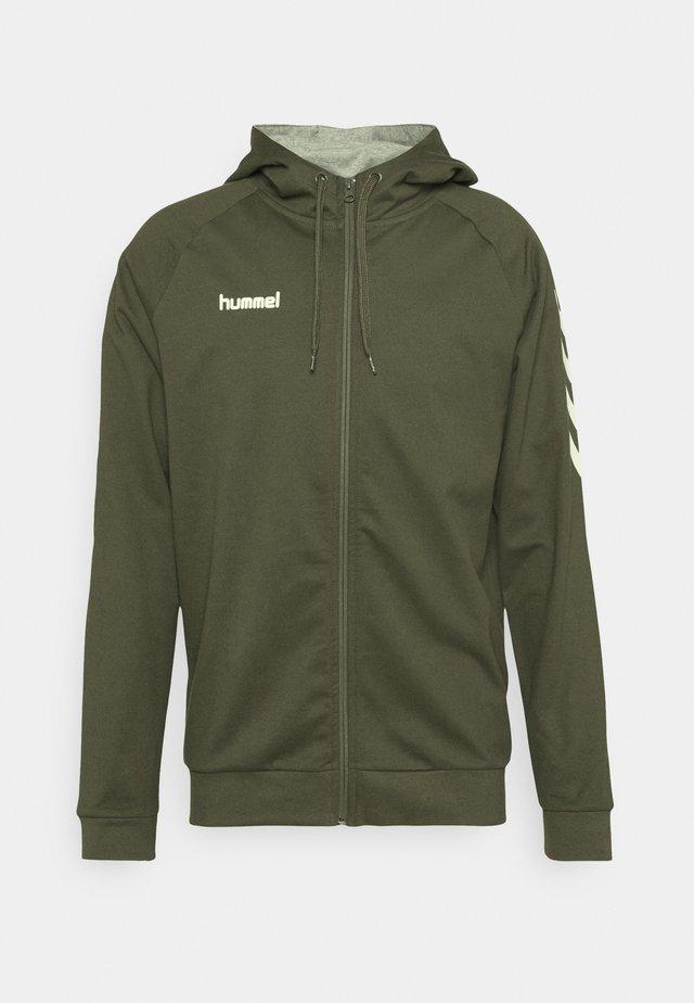 ZIP HOODIE - Zip-up hoodie - grape leaf