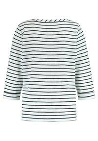 Taifun - Long sleeved top - off-white /black ringel - 4