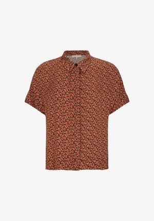 SRLEAH  - Button-down blouse - blur flower rooibos