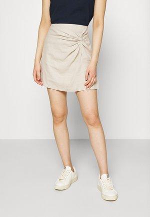Mini skirt - flax