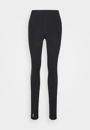 ONPPERFORMANCE RUN BRUSHED TIGHTS - Leggings - Trousers - black/red