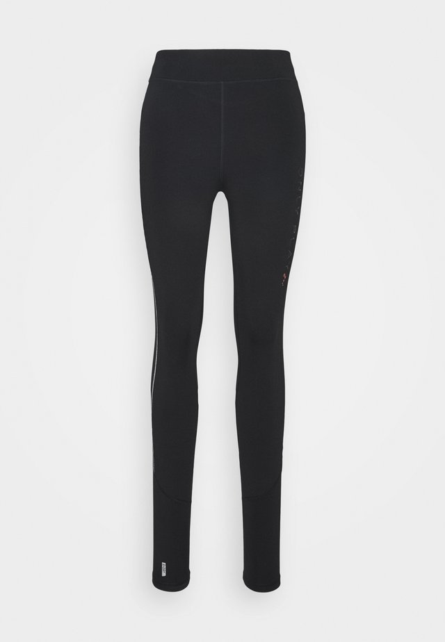 ONPPERFORMANCE RUN BRUSHED TIGHTS - Leggings - black/red