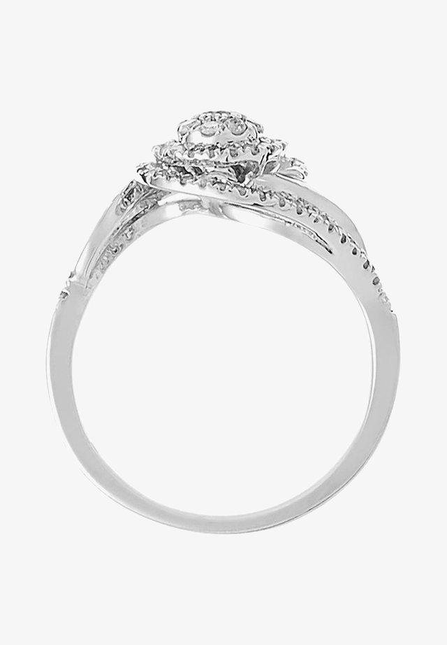 WHITE GOLD RING 9K CERTIFIED 65 DIAMONDS HP1 0.33 CT - Ring - silver