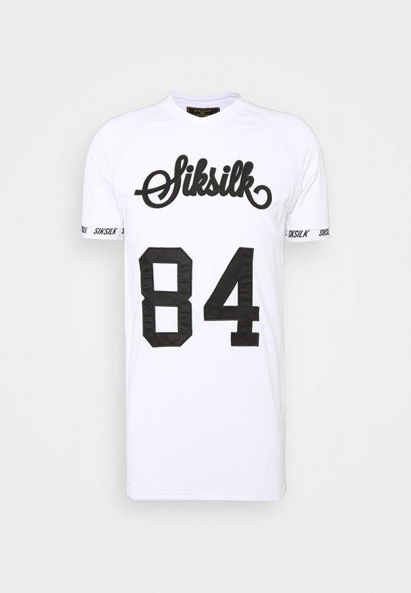 SIKSILK SPORTS TEE - T-shirt z nadrukiem - white/biały Odzież Męska NFOC