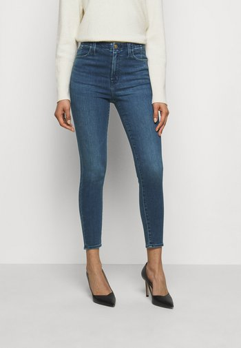 DARTED HIGH RISE CROP - Jeans Skinny Fit - moxie
