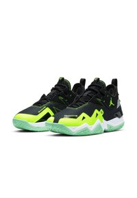 Jordan - WESTBROOK ONE TAKE - Basketball shoes - black/volt-white-green glow - 2