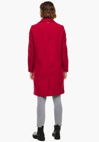 s.Oliver - langarm - Classic coat - dark red - 2