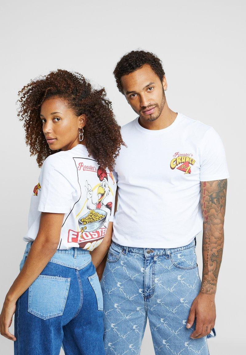 Pier One - UNISEX - T-shirt med print - white