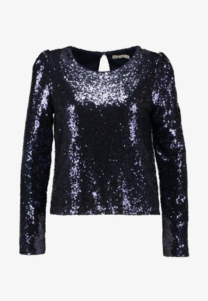 PERFECT SEQUIN - Blouse - dark blue