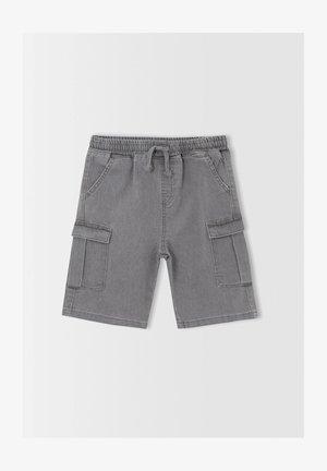 CARGO FIT - Denim shorts - grey