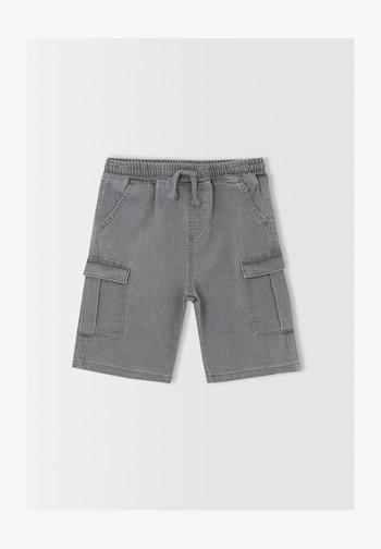 CARGO FIT - Szorty jeansowe - grey