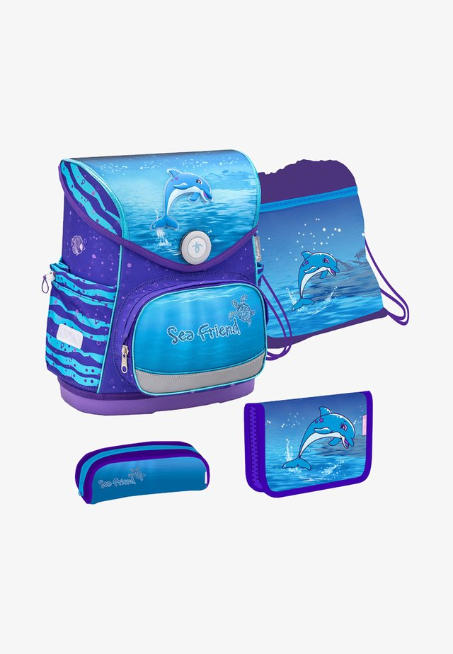 SET - School bag - turquoise