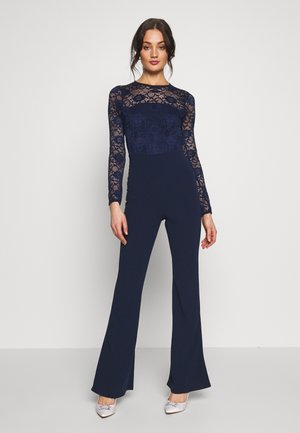 BRIDAL AND BRIDESMAID LACE OPENBACK JUMPSUIT - Jumpsuit - navy