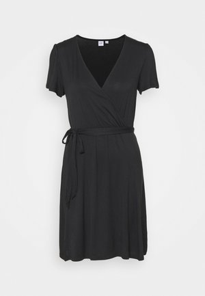 WRAP DRESS - Jerseykjole - true black