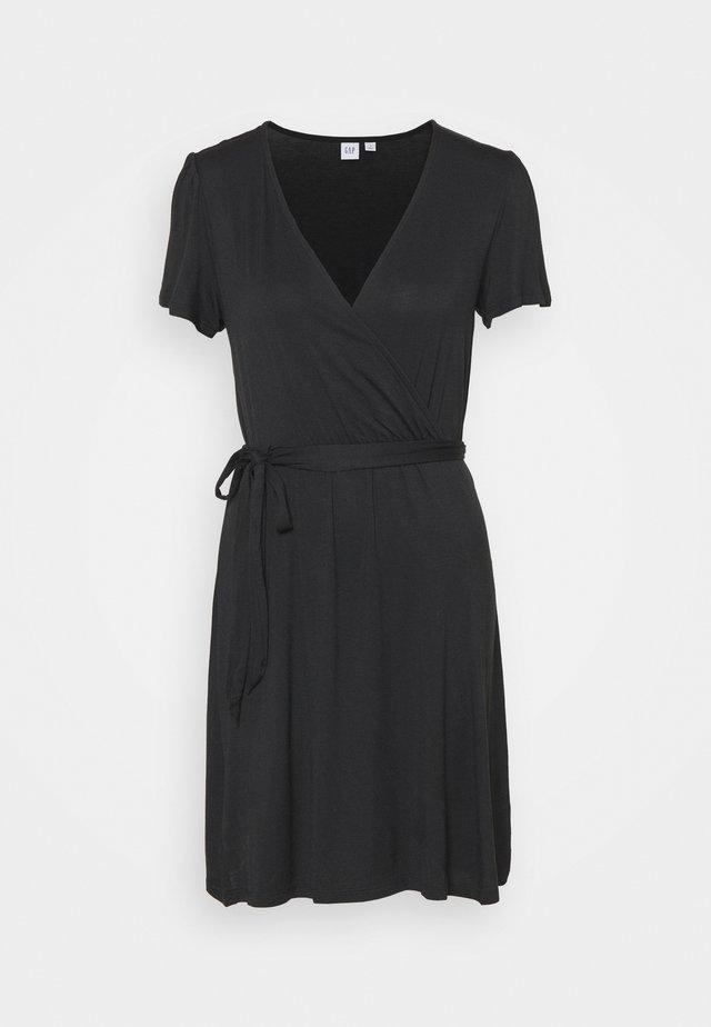 WRAP DRESS - Sukienka z dżerseju - true black