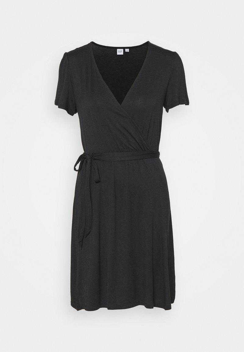 GAP - WRAP DRESS - Vestido ligero - true black