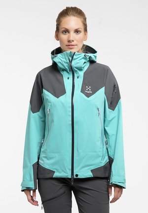 HAGLÖFS WINDBREAKER ROC SPIRE JACKET WOMEN - Soft shell jacket - glacier green/magnetite