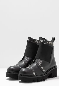 RAS - HIPER - Cowboy/biker ankle boot - tolled black - 4