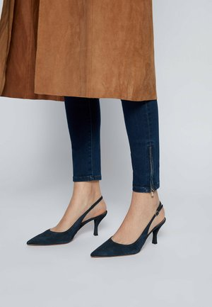 Slingback ballet pumps - dark blue