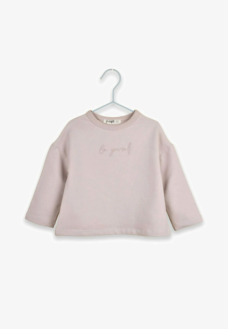 Cigit - BE YOURSELF - T-shirt à manches longues - light pink
