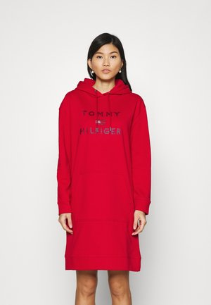 TIARA HOODED DRESS - Day dress - primary red