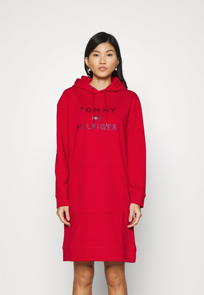 Tommy Hilfiger - TIARA HOODED DRESS - Day dress - primary red
