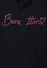Benetton - JACKET - Zip-up hoodie - dark blue - 3