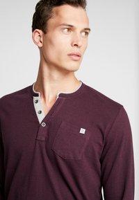 TOM TAILOR - STRIPED LONGSLEEVE - Long sleeved top - burgundy - 3