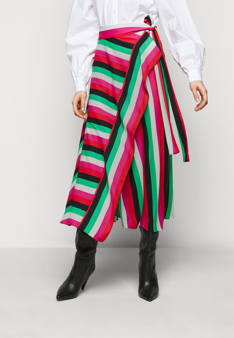 Diane von Furstenberg - CARSON STRIPE SKIRT - Maxi skirt - multi-coloured