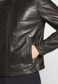 Strellson - FLAG - Leather jacket - dark brown - 3