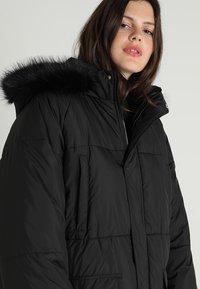 Urban Classics Curvy - LADIES OVERSIZE COAT - Winter coat - black/black - 6