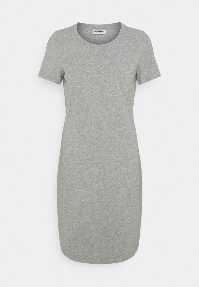 NMSIMMA - Pouzdrové šaty - light grey melange/solid