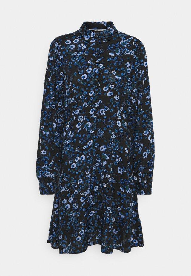 FRANKA DRESS - Shirt dress - black mix