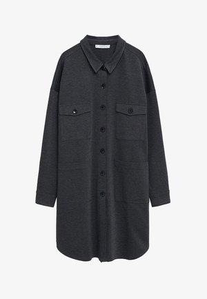 ROBER - Button-down blouse - mittelgrau meliert