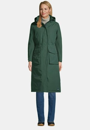 Winter coat - deep woodland green
