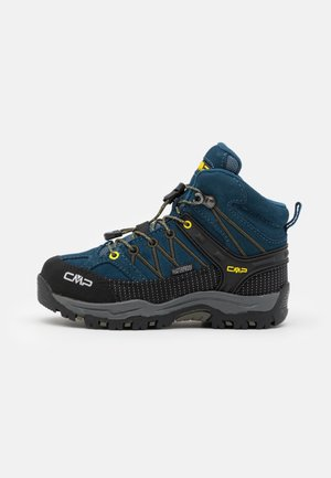 KIDS RIGEL MID SHOE WP UNISEX - Hiking shoes - blue ink/yellow