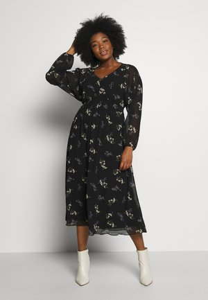 DRESS GENTLE FLORAL - Skjortekjole - black