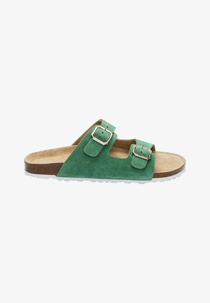 DALMATIAN TWO BAND FOOTBED - Slippers - green