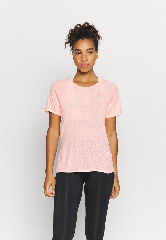 ADI RUNNER TEE - T-shirt print - coral