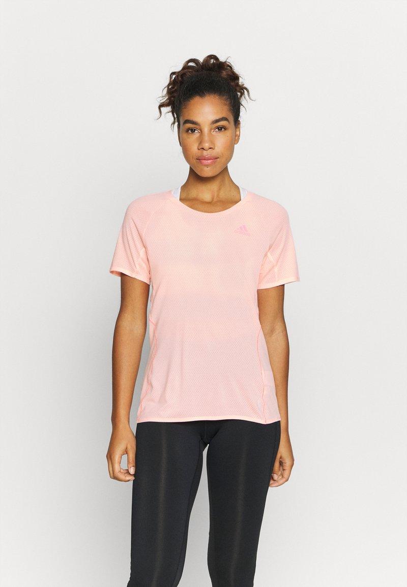 adidas Performance - ADI RUNNER TEE - Print T-shirt - coral