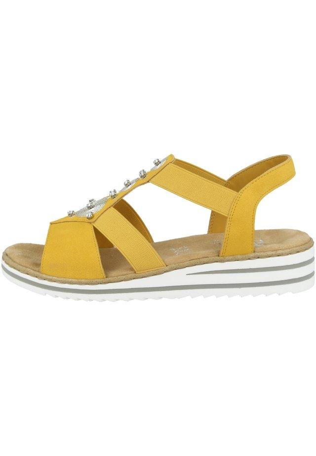 Sandales à plateforme - yellow (v0687-68)