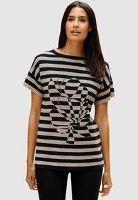 Laura Kent - Print T-shirt - schwarz lichtgrau - 0