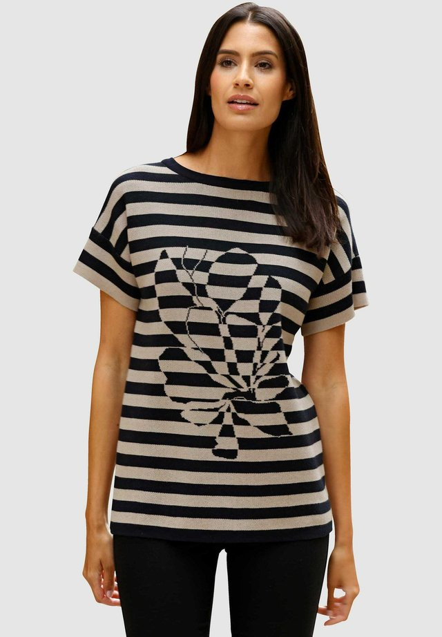 Print T-shirt - schwarz lichtgrau