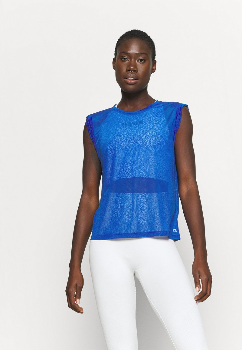 GAP - TISSUE ROLL SLEEVE TANK - T-shirts - admiral blue