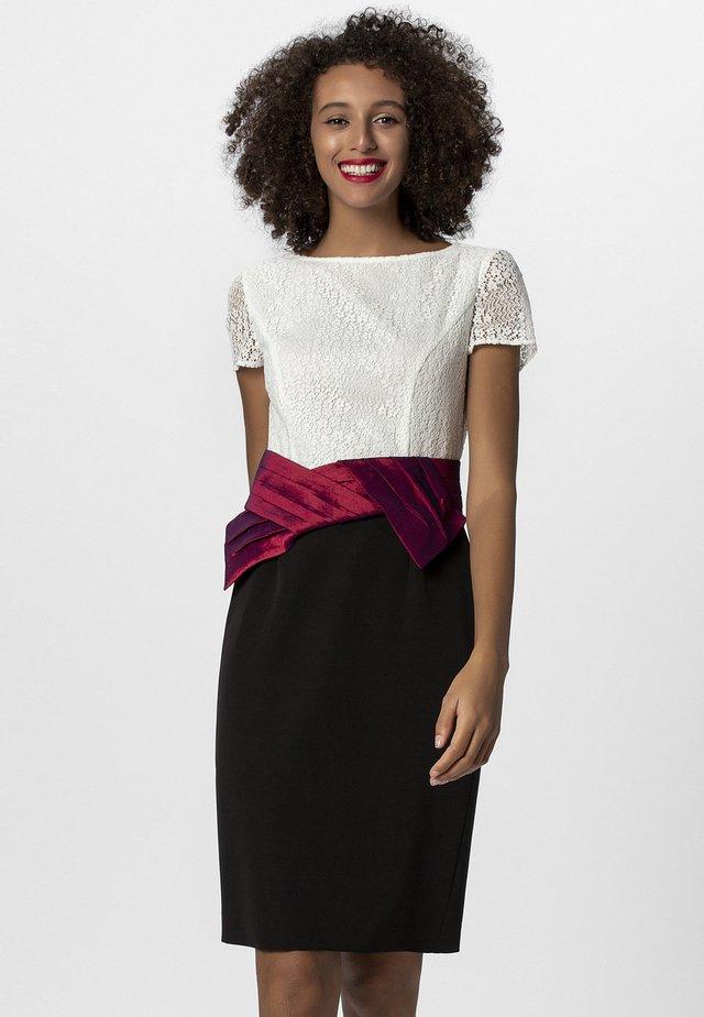 Vestito elegante - cream/burgundy/black