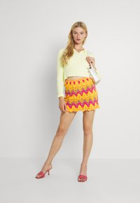 Free People - HEAT OF THE MOMENT CROCHE - Mini skirt - orange/pink - 1