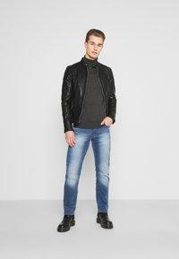 Goosecraft - MADRID BIKER - Leather jacket - black - 1