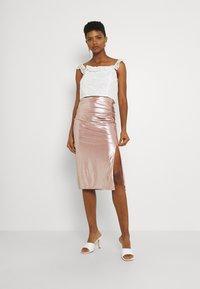 TFNC - JESSIE SKIRT - Pencil skirt - nude - 1