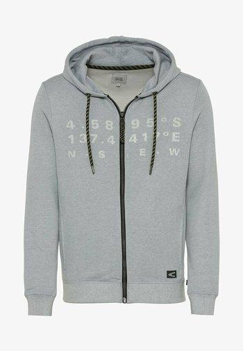 Zip-up sweatshirt - sky light