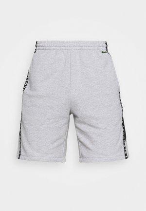 SHORT  - Träningsshorts - heidekraut grau/weiß/schwarz
